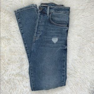 Forever 21 distressed high waisted jeans